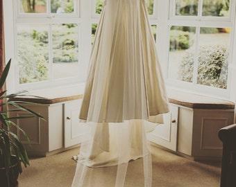 Cathedral Length Wedding Veil | Ivory Wedding Veil | Soft Tulle Veil | Lace wedding veil | Lace Cathedral Wedding Veil