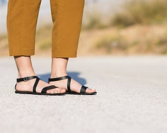 Leather sandals, Open toe handmade sandals, Sandals for women, Greek sandals, Summer sandals, Black sandals, Women sandals