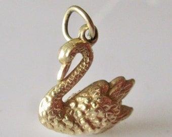 Vintage 9ct Swan Charm or Pendant