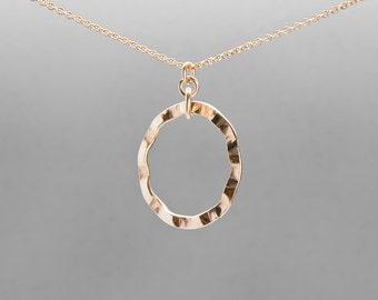 Gold filled circle pendant FREE UK P&P