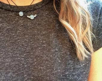 NEW Opal Choker, Opal Bead Necklace, Adjustable Opal Cord Choker, Mermaid Jewellery, Hippie Choker, Minimal Choker, Everyday Necklace, Boho
