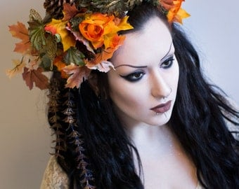Autumnal walk in the woods headdress