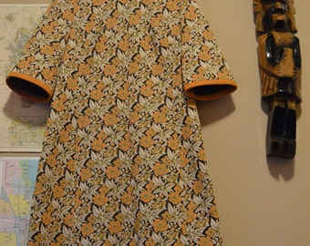 groovy Edith Flagg California late 60s vintage floral dress