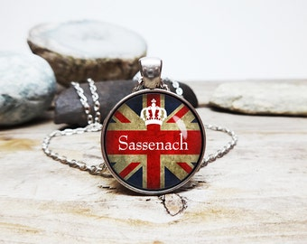 Sassenach necklace outlander necklace claire and jamie necklace outlander fan jewelry Sassenach pendant Sassenach jewelry outlander jewelry