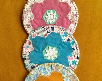Coasters, Coaster Set, Fabric Coasters, Quilted Coasters