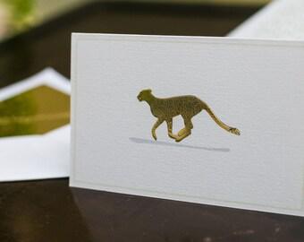 Folded cards, Stationery set, Gift cards - Savanna, Zebra, Cheetah