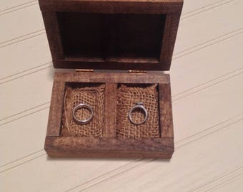 Wooden Ring Box - Ring Bearer Box - Wedding Ring Holder - Rustic Wedding Ring Box