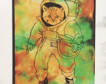Kitty Cat in Outer Space