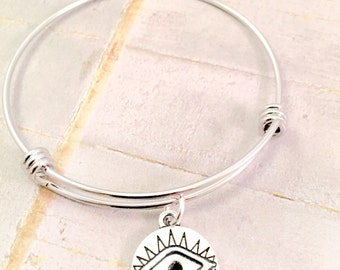 Evil eye charm bracelet, stainless steel bracelet,evil eye charm, for best friend, greek symbol