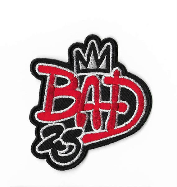 bad 25th anniversary patch michael jackson embroidered iron on
