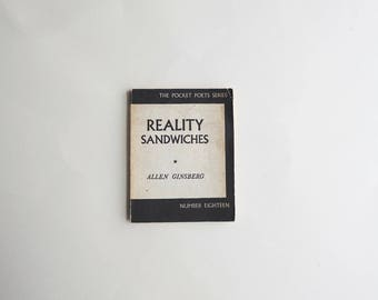 Reality Sandwiches By Allen Ginsberg 1962 Vintage Book, Antique Library, 1960s, Gift Idea, Legendary Writer, Literature, Short Essays, Gift