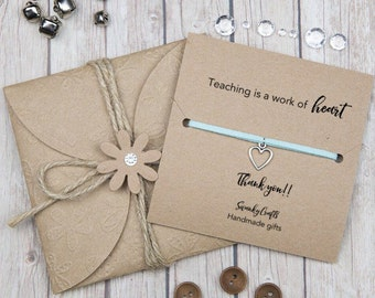 Teacher appreciation gifts - teacher appreciation week - thank you teacher -  teaching is a work of heart - christmas teacher gifts - custom