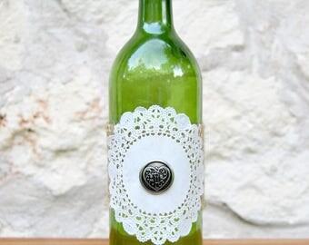 Rustic Wine Bottle Centerpiece