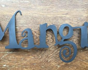 Mangia Sign (Steel)