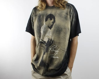 Vintage 1991 Randy Travis Tee - Rare Design Randy Travis Country Music T Shirt - 90s Singer Artist Tour Shirt Music - Made In USA