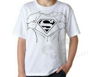 Boys Superman Shirt - Boys Shirt Rip Superman Shirt