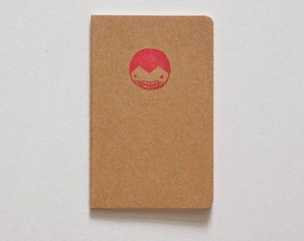 Lovingly illustrated booklet with hand-made stamps