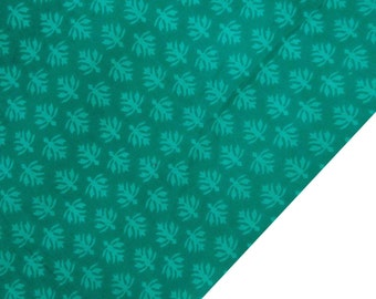 """Dressmaking Fabric, Green Floral Print, Teal Green Fabric, Home Decor, Quilting Fabric, 44"""" Inch Cotton Fabric By The Yard ZBC7291B"""