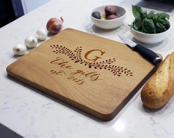Personalized Cutting Board, Custom Cutting Board, Engraved Cutting Board, Monogrammed Cutting Board, Custom Wedding Gift --CB-WO- TheGILLS