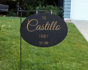 Personalized Wood Garden Flag, Custom Family Yard Sign, Family Name Sign,  Wood Hanging