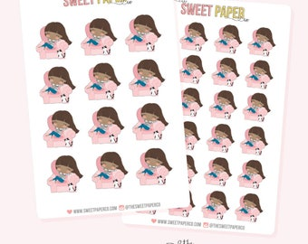 COZY GIRL Planner Stickers - Staci