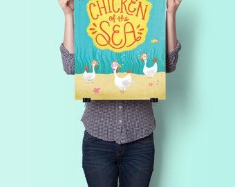 SALE 30% OFF! Chicken of the Sea - Cute Children's Poster