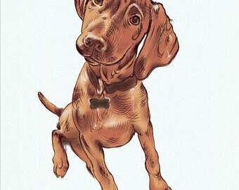 SALE-20% OFF. Custom Dog Portrait. Custom Pet Portrait. Dog Arts. Giclee Print-Dog Lovers-Personalized Dog Portrait. Memorial. Dog Portrait