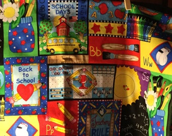 Back to School material~2 yards * exc