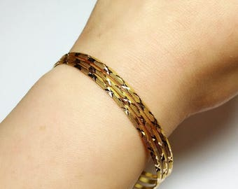 Three (3) Solid 18K gold vintage bangles *ON SALE for a limited time*