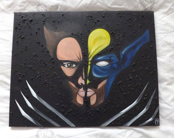 Marvel's Wolverine oil painting - Only one available