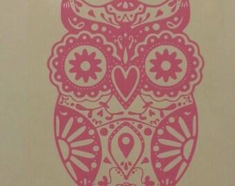 Owl Decal Etsy - Owl custom vinyl decals for car