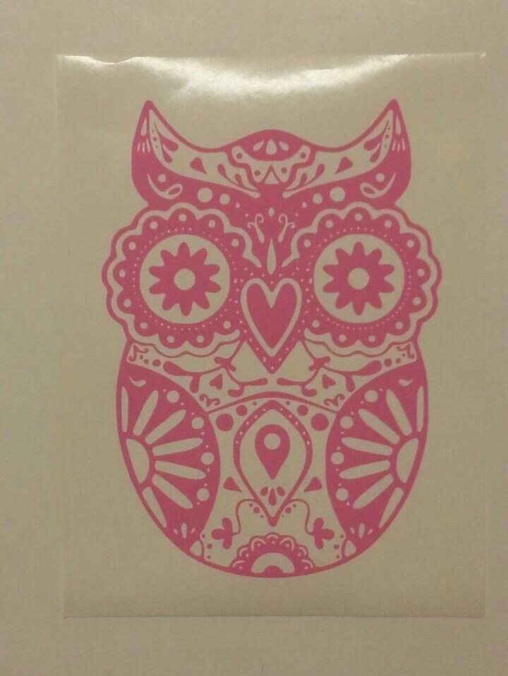 Owl Sugar Skull Car Decal Sugar Skull Owl Skull Owl Sugar - Owl custom vinyl decals for car