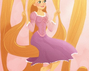 Rapunzel Swinging