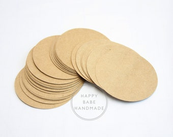 """Kraft Round Tags, 2.5"""", 50 75 100 150 or 200, Kraft Tags, Large Tags, Price Tags, Gift Tags, Rustic Tags, Wedding Favor Tag, Merchandise Tag"""