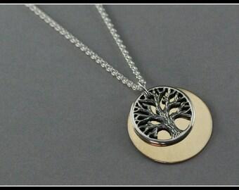 Tree necklace, tree of life necklace, wish tree necklace, forest necklace, tree jewelry, symbolic gift, nature jewelry, handmade jewelry