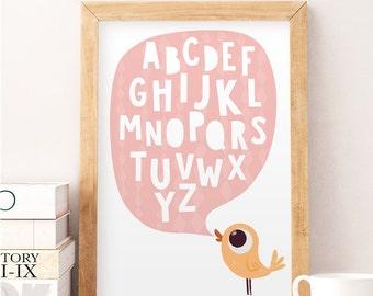 Superieur Alphabet Wall Art, Alphabet Wall Decor, Kids Wall Decor, Baby Room Art,