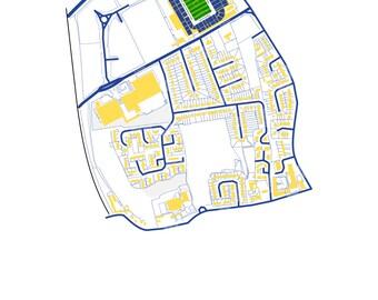 Leeds United FC - Elland Road Stadium Art