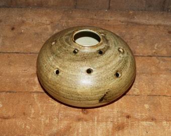 Pottery Stick  Incense holder Hand Thrown Artisan Signed -  1033