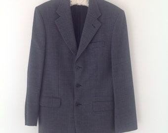 Men's blazer, vintage jacket, men's jacket, blue jacket, casual jacket, 90's jacket, single breasted jacket, men's coat, wedding