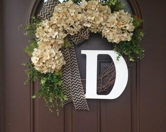 wreaths for front doorsBEST SELLING Year Round Cream Hydrangea Wreath for Front Door
