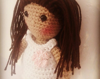 amigurumi doll,crochet doll,security eyes,synthetic filling, 15cm high, ideally for giving girls first communion