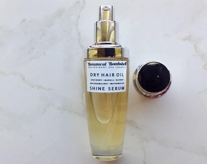 Dry Hair Oil Shine Serum with Goji, Watermelon, Baobab, Marula, Macadamia Nut / Orange Blossoms (Neroli) & Banana Silicone Free Hair Elixir