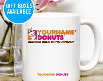 Personalized Dunkin Donuts Mug, Dunkin Donuts Mug, Print Your Name Mug, Custom Dunkin Donuts Mug, Personalized Name Mug, Dunkin Donuts Mug