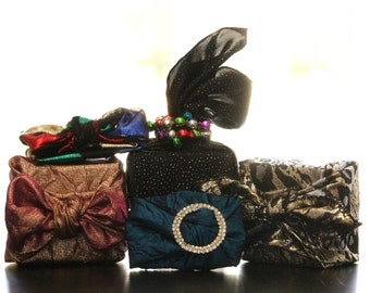 Gift Card Collection Reusable Fabric Gift Wrap Set