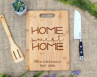 Home Sweet Home Cutting Board, Custom Cutting Board, Personalized, Cheese Board, Housewarming, Real estate, Closing, Realtor, New home, Gift