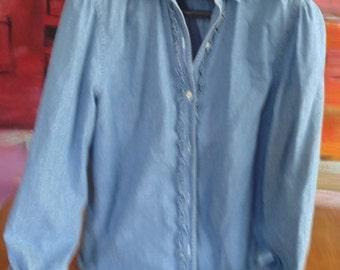 Shirt jeans Ralph Lauren / wide/woman / froufrou