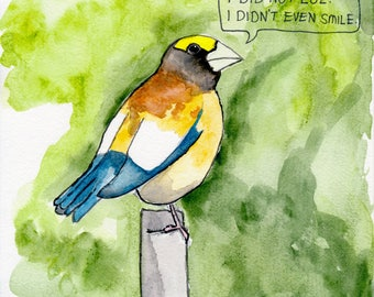 The Evening Grosbeak