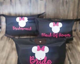 Disney Bachelorette, Minnie Mouse cosmetic bag, Makeup bag, Disney cosmetic bag, Lingerie Bag, Disney  bag, Disney Trip essence