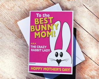 Bunny Rabbit Mother's Day card. Best4bunny