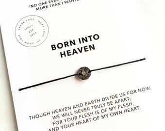 Born Into Heaven Bracelet/ Inspirational Jewelry/ Layering Bracelet